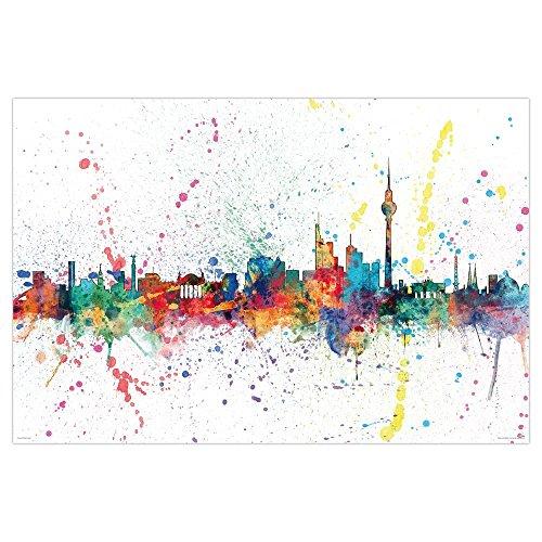 Póster Berlin Skyline/Horizonte de Berlin 'Michael Tompsett' (91,5cm x 61cm)