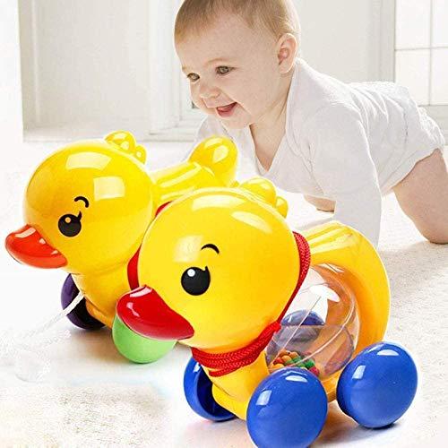 wupingmufengnongye Pato con Campanas, carros de Animales, Juguetes para niños pequeños, Juguetes de Campanas, campanillas Musicales
