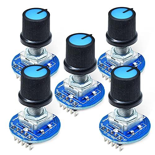回転ポテンショメータノブキャップデジタル制御モジュールロータリーエンコーダコントローラスイッチ 5 v diy キット電子 pcb ボードモジュール