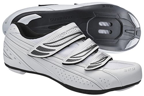 Shimano 2016 Women's SPD Sport Touring Road Cycling Shoes - SH-WR35 (White - 42)