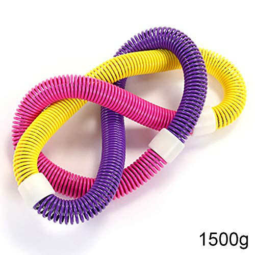 Read About HUI JIN Spring Hula Hoop, Spring Elastic Contraction Hula Hoop for Weight Loss Soft Fitne...