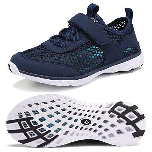 CIOR Sapatos aquáticos para meninos e meninas Sapatos aquáticos Sapatos de natação Tênis esportivo leve (bebê/criança pequena/criança grande), F.navy, 6 Big Kid
