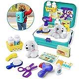 GizmoVine Juguetes Niños 2 años ,Juguetes para Perros Doctor Kit Toys,Maletín Veterinaria Perritos de Juguetes Mascotas Juego de rol para 2 3 4 5 años niños