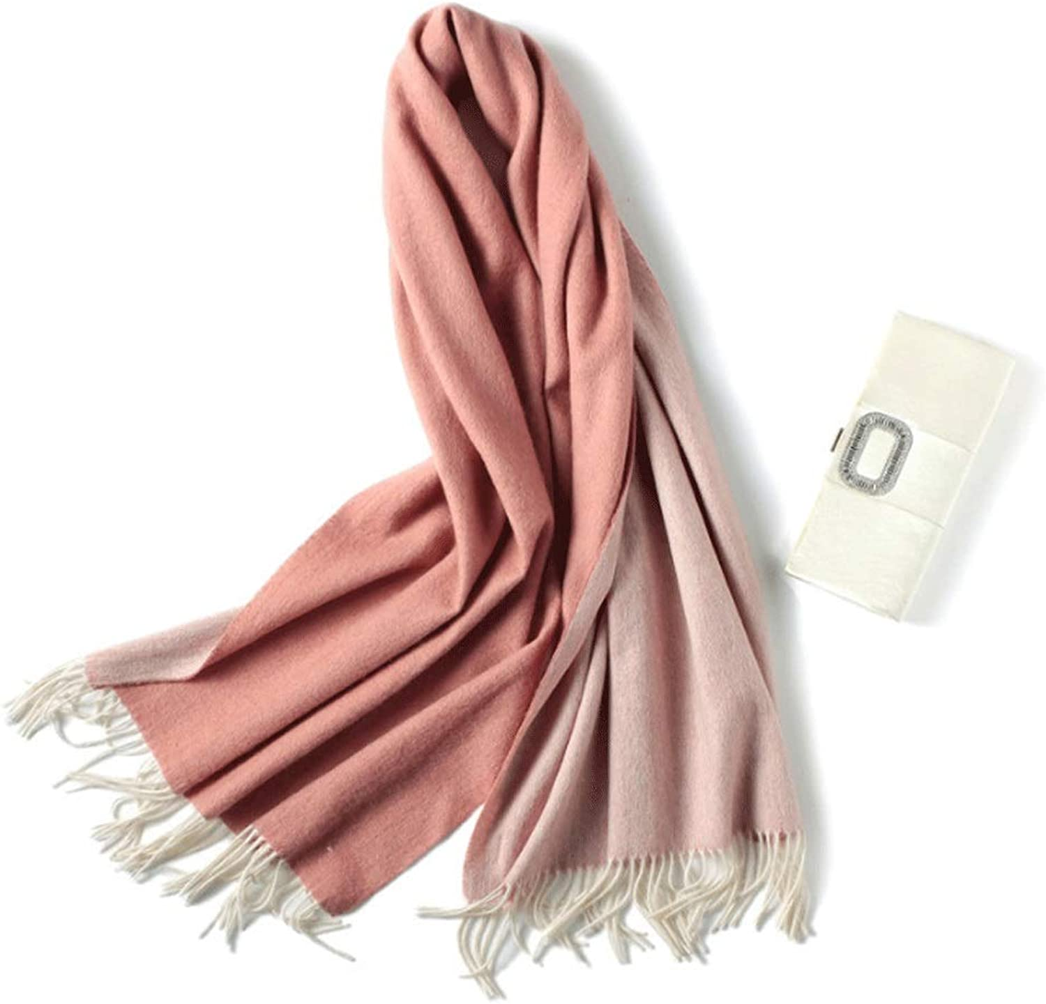 Wool Cashmere Warm Scarf Autumn and Winter Ladies Thick Warm Outdoor Sports Bib Shawl (color   C)
