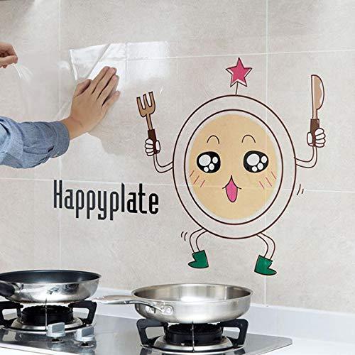 Transparente Selbstklebende Papierkocher HochtemperaturbeständigÖlbeständig KüchenfliesenÖlbeständig Wasserdicht Paste Rauch Wandaufkleber