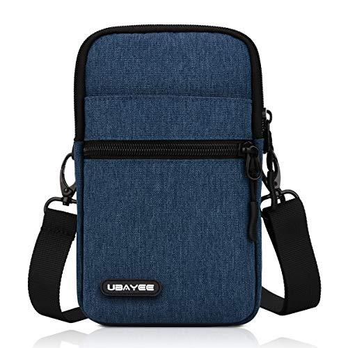 UBAYEE Kleine Umhängetasche bis zu 6,5 Zoll Handy für Herren und Damen, Handytasche Mini-Schultertasche mit RFID-Schutz Fach - Marineblau