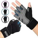 LOHOTEK Gepolsterte Fitness Handschuhe Trainingshandschuhe Unisex-Gewichtheberhandschuhe...
