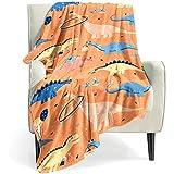 Dinosaur Blanket for Boys Girls, 300 GSM Soft Fleece Kids Blanket, Baby Boy Blanket is Suitable for Toddler Couch , Cute Blanket for Sofa Bedroom Living Room, Dinosaur Gifts for Children, 50'x40'