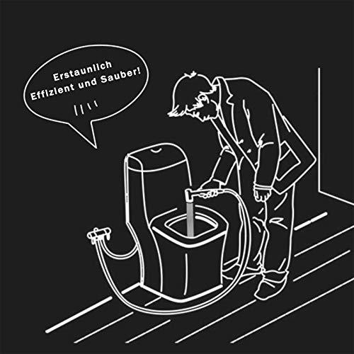 D&D Pomme de douche en acier inoxydable pour WC