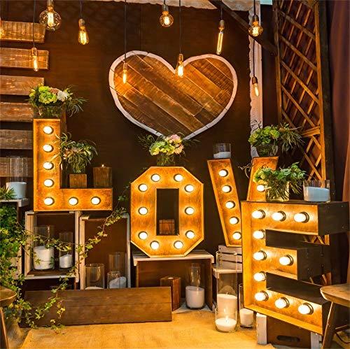 Leowefowa 1,8x1,8m Vinilo Boda Telon de Fondo Interior Decoración romántica de la...
