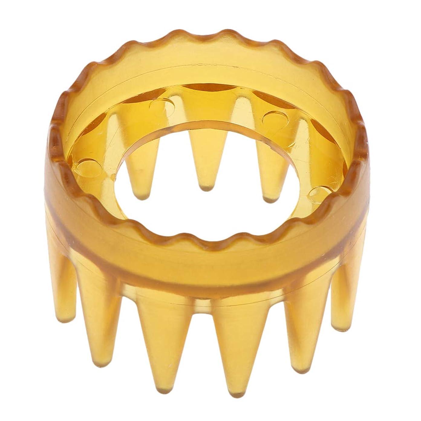 ボックス変動する人気のIPOTCH ヘアケアブラシ シャンプーブラシ マッサージャー櫛 シャンプー櫛 ヘアグルーミングブラシ 4色選べ - 黄