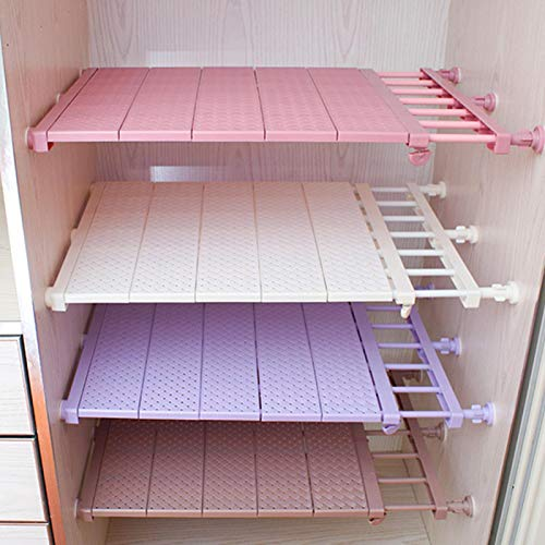 Tongdejing Estantes extensibles para armario de almacenamiento, armario organizador, estante de tensión ampliable para ropa, armario, organizador de armario ajustable, DIY.
