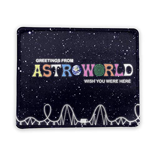 Astro_World Computer Accessories Desk Keyboard Gaming Mouse Pad with Stitched Edge, Premium-Textured Pad, Rubber Base Wireless Mousepad for Laptop & Pc & Computer
