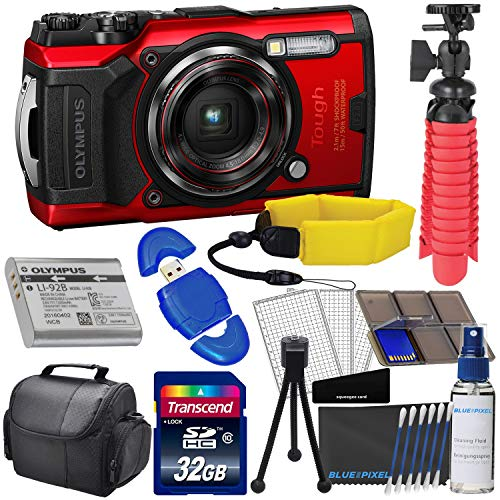 Olympus Tough TG-6 Digital Camera (Red) with...