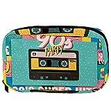Bolsas cosméticas 1990S cinta musical colorida práctica bolsa de viaje Oragniser bolsa de maquillaje para mujeres y niñas