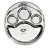 StarLinks®Stainless Steel Plate - 4 Partition Mini Lunch Dinner Bhojan Thali (Extra Deep) Plates- Dia:12' (31.25cm) Ht:1.25'(3cm) Approx.Wt: 385gm - 2 pcs /G/385g/4p/11