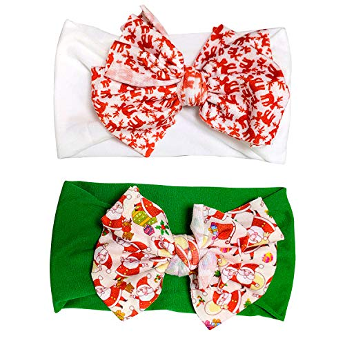 Infant Bow Headbands Newborn Elastic Hair bands Cute Headwraps Nylon Christmas Hair Accessories For Toddler Girls