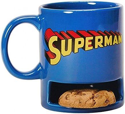 Preisvergleich für Superman Kaffeebecher mit Keksfach - Superman Logo Tasse Kaffeetasse
