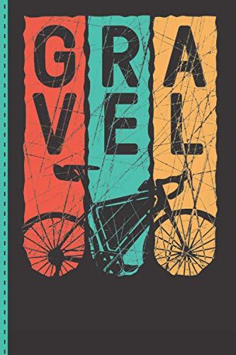 Gravel Retro - Gravelbike - Mountainbike - Fahrrad - Notizheft: Notizbuch A5 (6'x9' / ~15x22cm) liniert