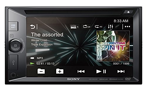 Sony XAV-W651BT 2DIN DVD Moniceiver, NFC, Bluetooth, SongPal, 6,2 inch display, 4x 55W, extra bas