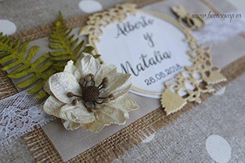 Libro de firmas para boda acolchado