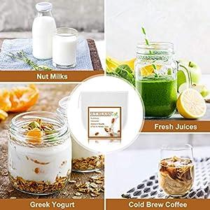 6 Pack Nut Milk Bag, Fancymay Reusable Food Strainer for Almond/Soy Milk, Greek Yogurt, Cheesecloth Bag Yogurt Strainer… |