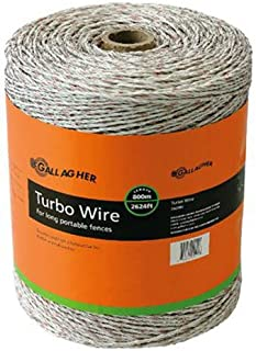 Gallagher G62089 Turbo Wire Fence, 2625-Feet, White