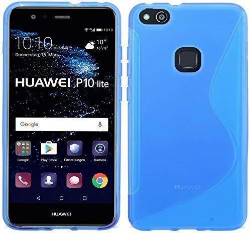S Line TPU – Carcasa para Huawei P10 Lite//Silicona Móvil Bumper – Accesorios Case Cover Gel de Silicona en Azul @ Energmix: Amazon.es: Electrónica