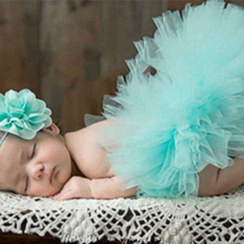 Aiming Linda Princesa apoyos de la fotografía del recién Nacido Infantil del Equipo del Traje de Vestido del Verano del bebé Venda de la Flor #18