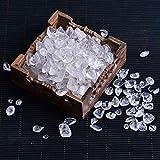 SAIYI Decoraciones, 50-100g Cuarzo Rosa Natural Cristal Blanco Mini Roca Mineral espécimen se Puede Utilizar para la artesanía de decoración del hogar de Piedra de Acuario (Color : Clear Quartz)