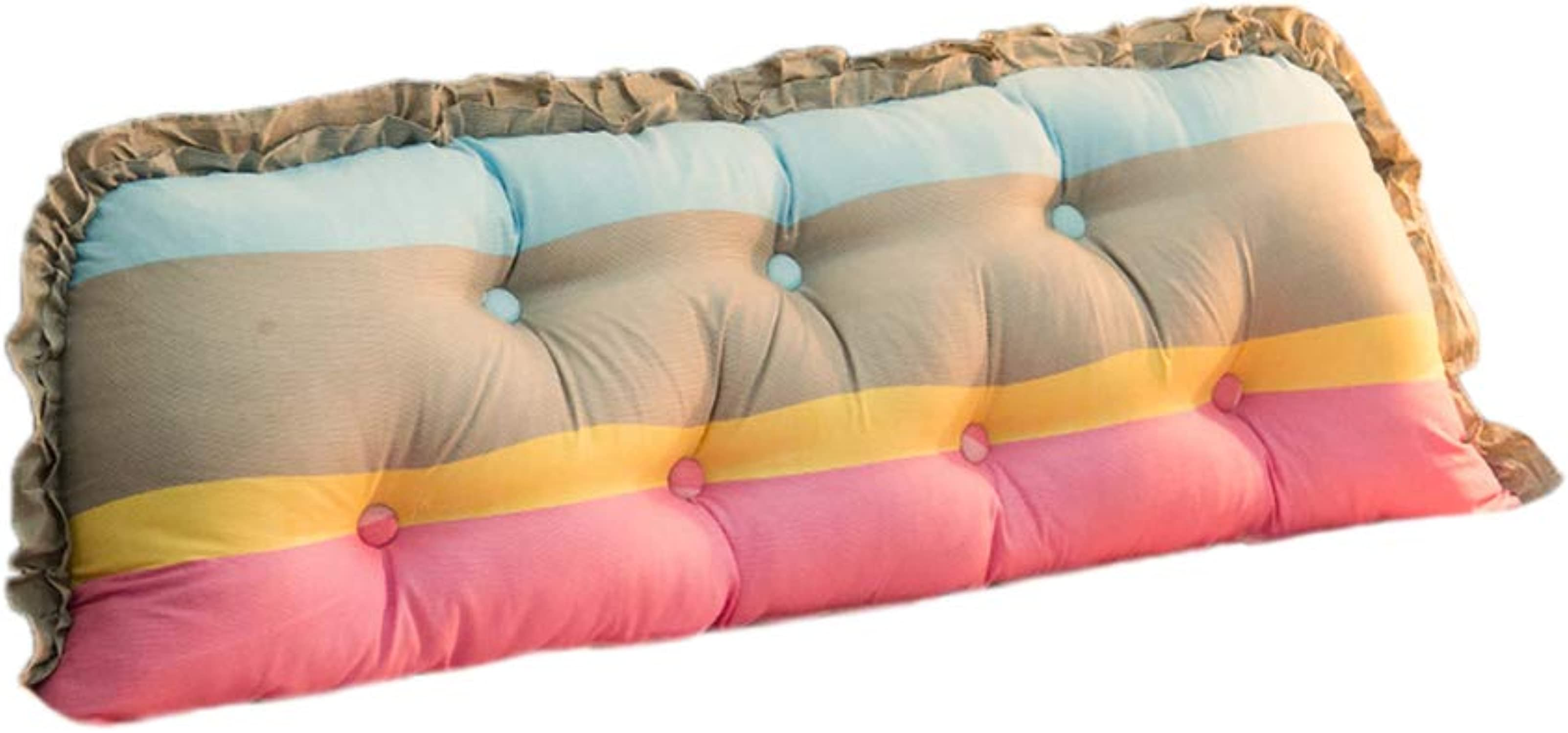 KjinZ Coussins Amovibles, Styles Plusieurs Plusieurs Tailles Oreiller Coton épaissir Allonger Oreiller Lit Sofa Long Oreiller Confortable (Couleur    3, taille   140CM)