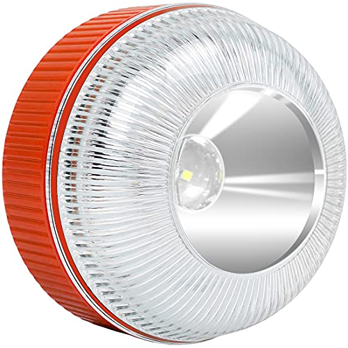 Superpow Luz de Emergencia V16 Homologada Luz de Avería Baliza de Emergencia Coche de Acuerdo con los Requisitos de la DGT LED de Alta Intensidad Luces de Emergencia Apta para días lluviosos y nevados
