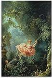DPZAFL Laminas para Cuadros Póster artístico de Jean Honore Fragonard The Swing, póster artístico de Pared, impresión de Imagen, Poster de Decoracion Moderna 60x90cm x1 Sin Marco