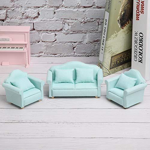 Okuyonic Fauteuil Miniature 3Pcs pour la Chambre à Coucher pour la décoration de la Maison(Matcha)