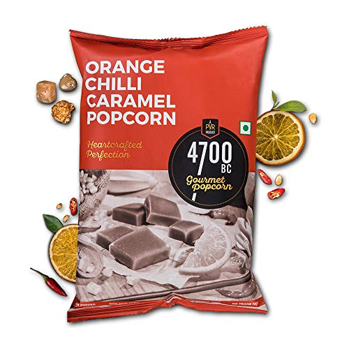 4700BC Gourmet Popcorn, Orange Chilli Caramel, Pouch, 240g (pack of 4)