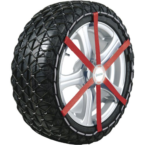 Michelin 92302 Catene da neve in tessuto Easy Grip J11, ABS e ESP compatibile, TÜV/GS e ÖNORM, 2 pezzi
