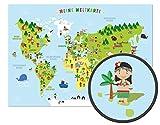 ARTBAY Kinder Weltkarte - XXL Poster - 118,8 x 84 cm |