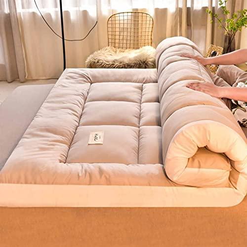 SXCQ Colchn Tatami, colchn de Piso japons 4 Pulgadas Colchn de Plato futn Extra Grueso para Adultos, Matriz japons Futon Matter Futon Colche Bed Colchn de Camping