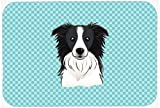 Caroline's Treasures Checkerboard Blue Border Collie Mouse Pad/Hot Pad/Trivet (BB1179MP)