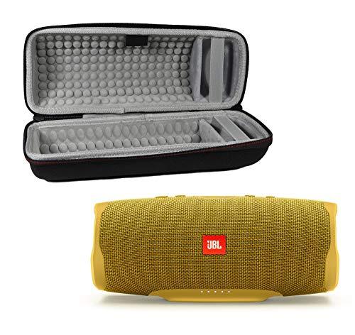 JBL Charge 4 Waterproof Wireless Bluetooth Speaker Bundle with Portable Hard Case - Yellow