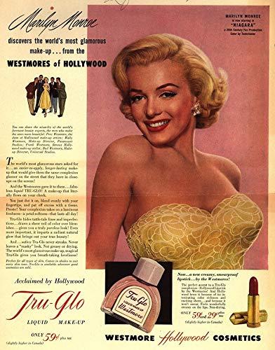 8 x 10 Wood Framed Print Marilyn Monroe 1950s Advertising