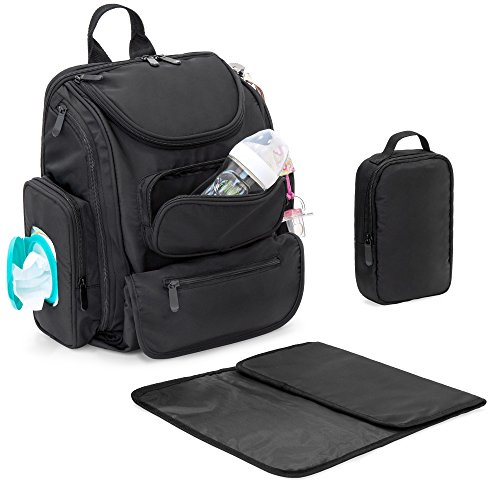 Best Choice Products Baby Diaper Multifunctional Bag Travel Backpack w/ 14 Pockets, Stroller Straps, Changing Pad, Sundry Bag, Black