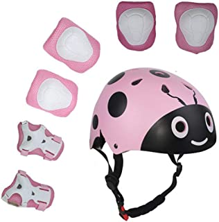 UniqueFit Lucky-M Kids Outdoor Sports Protective Gear,Boys and Girls Safety Pads Set [Helmet,Knee&Elbow Pads and Wrist Guards] for Roller, Scooter, Skateboard, Bicycle(3-8 Years Old)