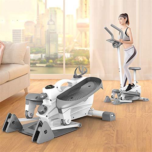 QINAIDI Bicicleta elíptica y la Bicicleta estática, Paso a Paso, con los Asientos, 2 en 1 Cardio Home Gym Equipment, magnético Suave y silencioso Driven