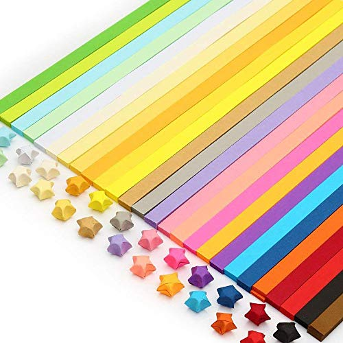 Yeooyoor 1030 Sheets Origami Stars Papers Package DIY Paper - 27 Colors