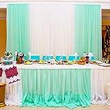 BITFLY 5M x 1.35M Organza Swag fai da te in tessuto festa natalizia superiore tavolo da party festa decorazione arco scala di valance Tabella gonna - 30 colore Scegli menta verde