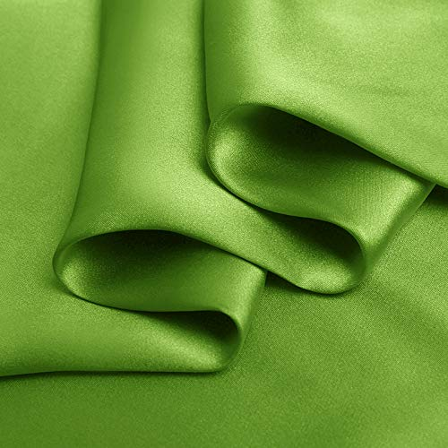 Colored leaves Stretch Silk Satin Fabric Width 42 inch 19 mm By the Yard or Meter