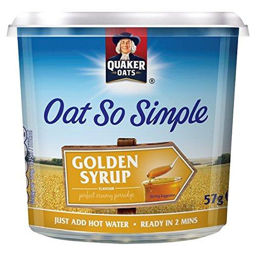 Quaker Oats Oat So Simple Golden Syrup Pot 57g PMP (Confezione con 8x 57g)
