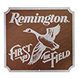 Open Road Brands Remington First in Field Embossed Metal Wall Art Sign - an Officially Licensed Product Great Addition to Add What You Love to Your Home/Garage Decor