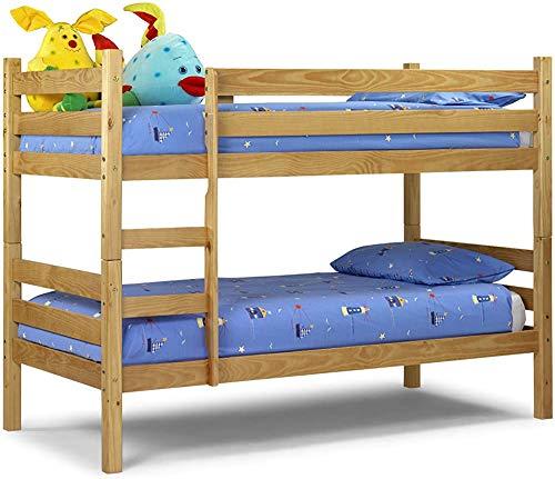 Diseño simple Linda cama doble, adecuada para toda la decoración adecuada para el dormitorio adulto juvenil para niños,Pine